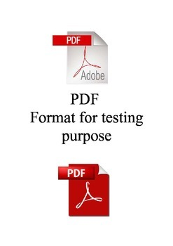QA Testing: Item is created for testing purpose only pdf