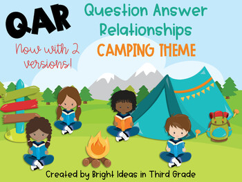 QAR Camping Theme Posters {Question Answer Relationships}