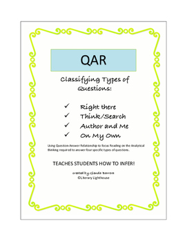 QAR Classifying Types of Questions