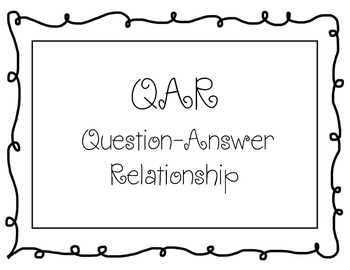 QAR (Question-Answer Relationship Posters) - Black and Whi