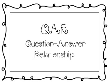 QAR (Question-Answer Relationship Posters) - Bright Colors