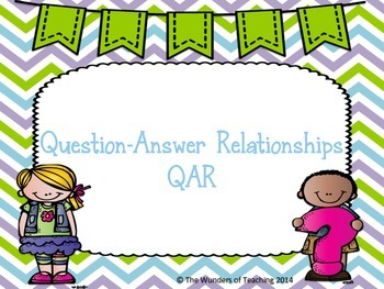 QAR: Question Answer Relationships: Anchor Charts, bookmar