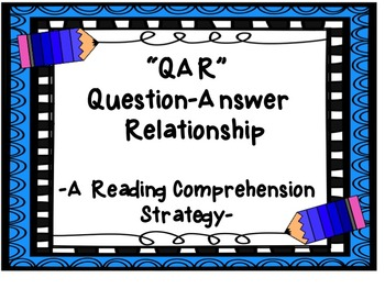 QAR Reading Comprehension Strategy Posters