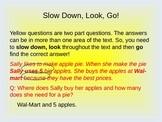 QAR powerpoints, Comprehension questions