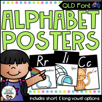 QLD Font Alphabet Posters