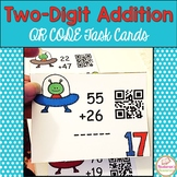 Two-digit Addition With Aliens: Task Cards With QR CODES