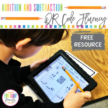 QR Code Addition and Subtraction Fluency Freebie