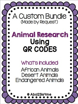 QR Code Animal Research Custom Bundle for Tiffany Rice (2 of 2)