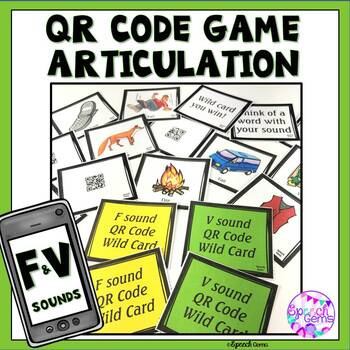 QR Code Articulation Game F and V sounds