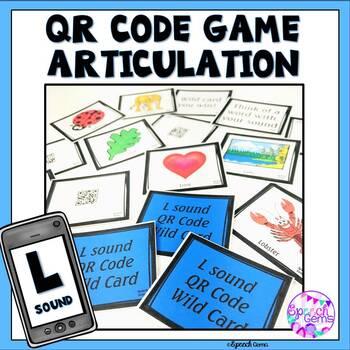 QR Code Articulation Game L sounds and L blends