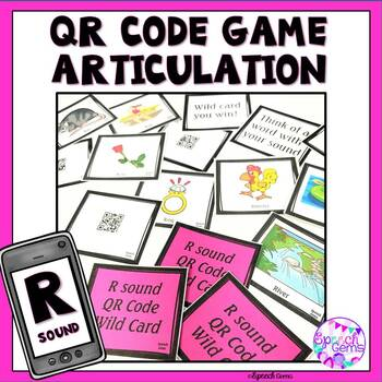 QR Code Articulation Game R sounds and R blends