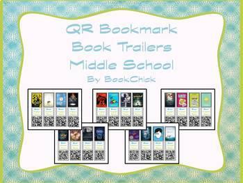 Middle School QR Code Bookmark Book Trailers Set #1
