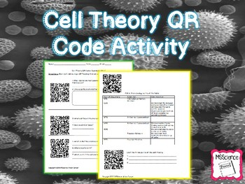 QR Code Cell Theory Scavenger Hunt