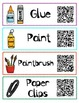 QR Code Classroom Labels from English to Spanish