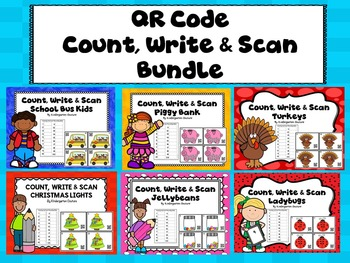 QR Code Count, Write & Scan Bundle