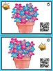 QR Code Count, Write, Scan Flowers