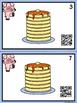 QR Code Count, Write, Scan Pancakes 1-10