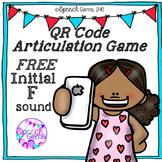 QR Code Articulation Game FREE Initial F sound