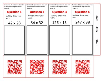 QR Code Foldables-Grade 5 Numbers and Operations in Base T