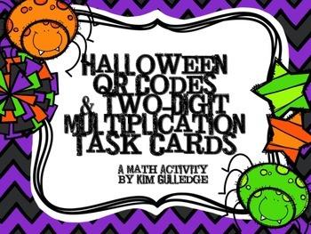 QR Code Fun: 2-Digit Multiplication Task Cards - 4.NBT.5 &