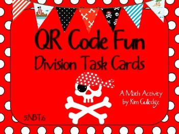 QR Code Fun: Pirates Long Division Task Cards (without rem