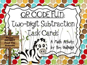 QR Code Fun: Zoo Two-Digit Subtraction Task Cards - 3.NBT.