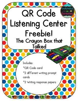 QR Code Listening Center: The Crayon Box that Talked {Freebie!}