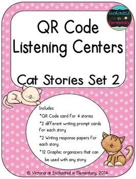 QR Code Listening Centers: Cat Stories Set 2