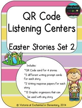QR Code Listening Centers: Easter Stories Set 2