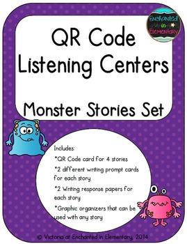QR Code Listening Centers: Monster Stories Set