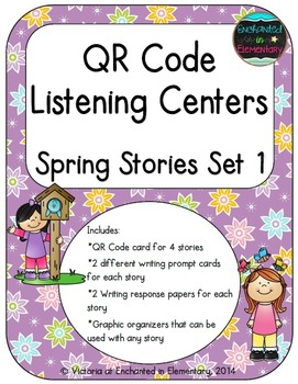 QR Code Listening Centers: Spring Stories Set 1