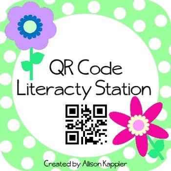 QR Code Literacy Station Books Read Aloud
