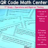 QR Code Math Center - 4th Grade Operations and Algebra