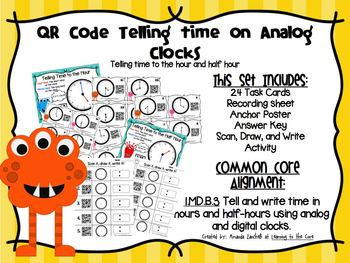 QR Code Telling Time to the Hour and Half Hour