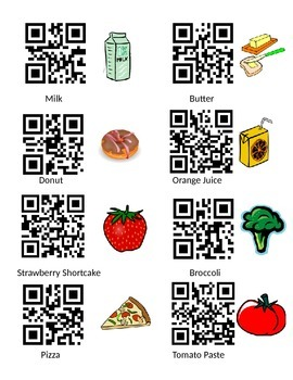 QR Code Math Grocery Store: Adding and Subtracting