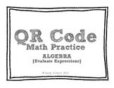 QR Code Math Practice [Algebra - Evaluate Expressions]
