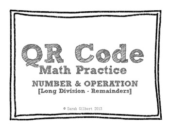 QR Code Math Practice [Long Division 1 Digit With 4 Digit