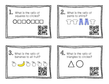 QR Code Math Practice [Ratios, Proportions, and Unit Rates]