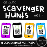 QR Code Scavenger Hunts for Grades 1 and 2 (8 Sets, Common