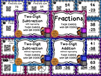 QR Code Math Task Cards Bundle