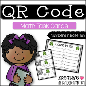 QR Code Math Task Cards- Numbers in Base Ten (1st grade edition)