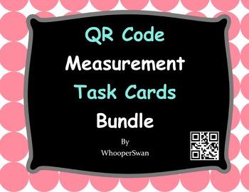 QR Code Measurement Task Cards Bundle