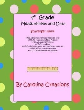 QR Code Measurement and Data Scavenger Hunt - Fourth Grade