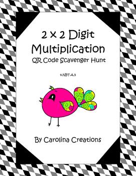 QR Code Multiplication 2 x 2 Digit Scavenger Hunt - 4.NBT.5