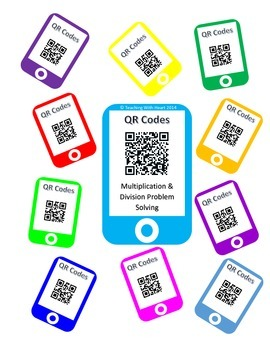 QR Code Multiplication & Division Word Problem Task Cards