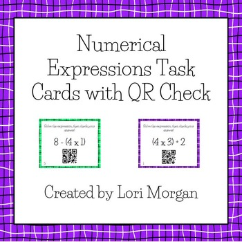 QR Code Numerical Expressions Task Cards