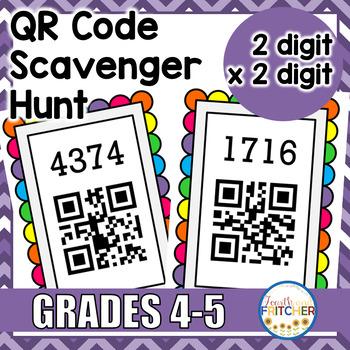 QR Code Scavenger Hunt: 2-Digit X 2-Digit Multiplication