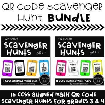 QR Code Scavenger Hunt BUNDLE {16 CC Aligned Math Sets for