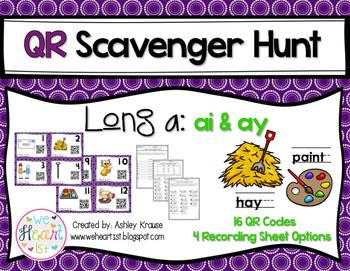 QR Code Scavenger Hunt: Long A