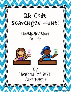 QR Code Scavenger Hunt - Multiplying by 0 - 5